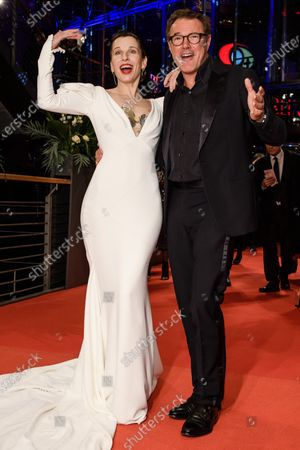 Meret Becker (L) and German actor Sebastian Koch arrive for the Opening Ceremony of the 70th annual Berlin International Film Festival (Berlinale), in Berlin, Germany, 20 February 2020. The Berlinale runs from 20 February to 01 March 2020.