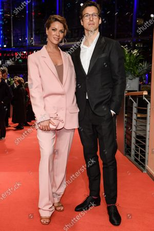 Jessica Schwarz (L) and German actor Florian David Fitz arrive for the Opening Ceremony of the 70th annual Berlin International Film Festival (Berlinale), in Berlin, Germany, 20 February 2020. The Berlinale runs from 20 February to 01 March 2020.