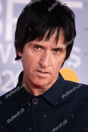 Stock Picture of Johnny Marr poses for photographers upon arrival at Brit Awards 2020 in London