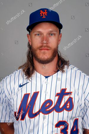 This is a 2020 photo of Noah Syndergaard of the New York Mets baseball team. This image reflects the Mets active roster as of, when this image was taken