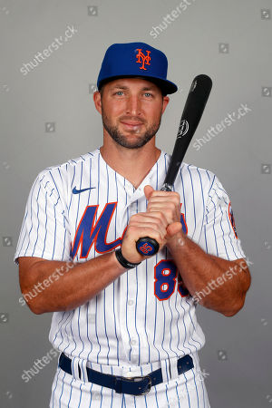 This is a 2020 photo of Tim Tebow of the New York Mets baseball team. This image reflects the Mets active roster as of, when this image was taken