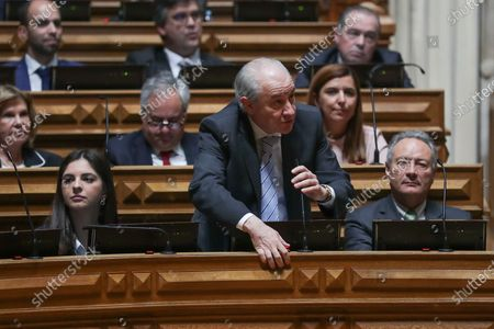 The President of Social Democratic Party Rui Rio votes in favor, during the euthanasia debate and vote in the Portuguese Parliament in Lisbon, Portugal, 20 February 2020. The Portuguese deputies discuss and vote, for the second time since 2018, on the decriminalization of medically assisted death.