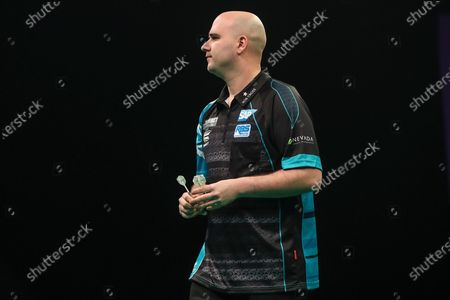Rob Cross during the Unibet Premier League darts at Motorpoint Arena, Cardiff