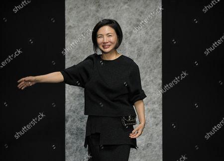 Stock Photo of Izumi Ogino on the catwalk