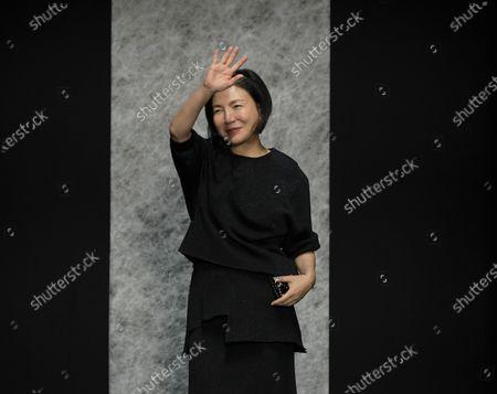 Stock Picture of Izumi Ogino on the catwalk