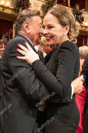Austrian businessman Richard Lugner (L) and Italian actress Ornella Muti (R) dance during the traditional 64th Vienna Opera Ball at the Wiener Staatsoper (Vienna State Opera) in Vienna, Austria, 20 February 2020.