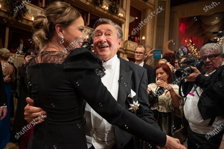 Austrian businessman Richard Lugner (R) and Italian actress Ornella Muti (L) dance during the traditional 64th Vienna Opera Ball at the Wiener Staatsoper (Vienna State Opera) in Vienna, Austria, 20 February 2020.