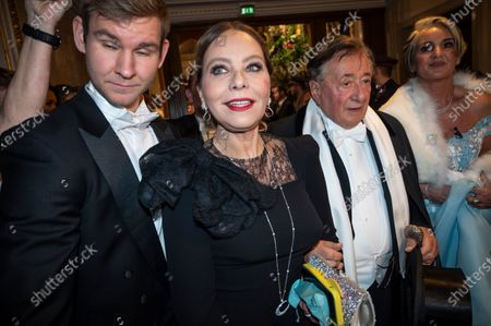 Austrian businessman Richard Lugner (C-R) and Italian actress Ornella Muti (C-L) arrive for the traditional 64th Vienna Opera Ball at the Wiener Staatsoper (Vienna State Opera) in Vienna, Austria, 20 February 2020.