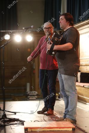 Editorial image of Peter Knight and John Spiers in concert at Cecil Sharp House, London, UK - 20 Feb 2020