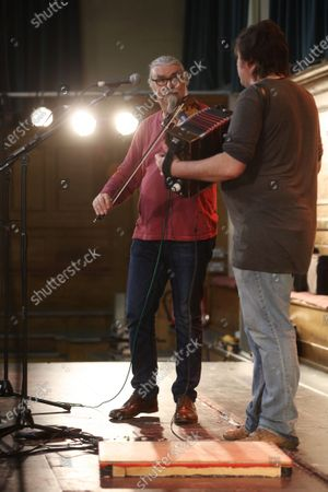 Editorial photo of Peter Knight and John Spiers in concert at Cecil Sharp House, London, UK - 20 Feb 2020