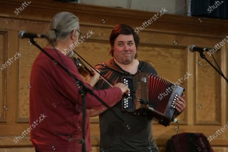 Editorial picture of Peter Knight and John Spiers in concert at Cecil Sharp House, London, UK - 20 Feb 2020