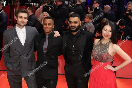 Stock Photo of Douglas Booth, Yanic Truesdale, Hamza Haq and Christine Lan