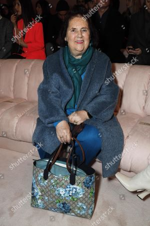 Suzy Menkes in the front row