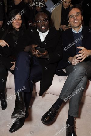 Emmanuelle Alt and Edward Enninful in the front row