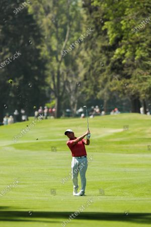 Francesco Molinari of Italy hits the ball during the first round of the WGC Mexico Championship, held at the Chapultepec Golf Club in Mexico City, Mexico, 20 February 2020.