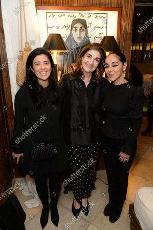 Stock Picture of Liza Essers, Fatima Maleki and Shirin Neshat