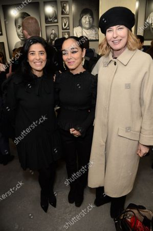 Liza Essers, Shirin Neshat and Julia Peyton Jones