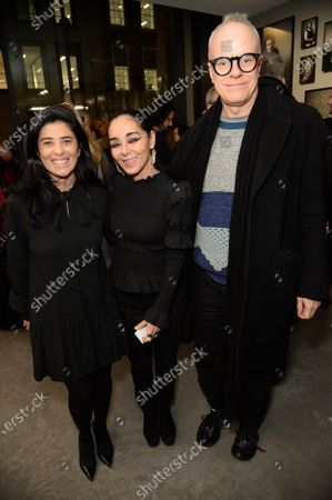 Stock Photo of Liza Essers, Shirin Neshat and Hans-Ulrich Obrist