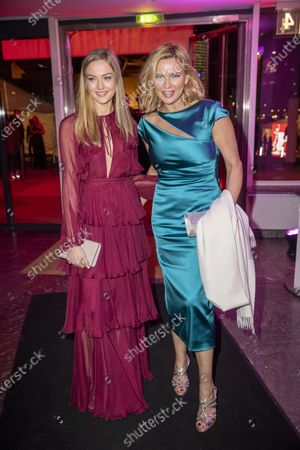 Veronica Ferres (R) and daughter Lilly Krug (L) arrive to the opening reception party of the 70th annual Berlin International Film Festival (Berlinale), at the Kulturforum in Berlin, Germany, 20 February 2020. The Berlinale runs from 20 February to 01 March 2020.