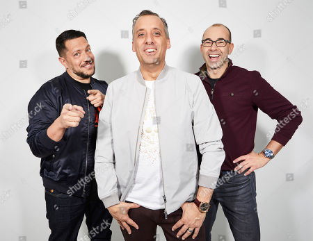 "Sal Vulcano, Joe Gatto, James Murray. The Impractical Jokers, Sal Vulcano, from left, Joe Gatto, and James Murray pose for a portrait in New York, on. ""The Impractical Jokers: The Movie"" releases in the U.S. on Friday"
