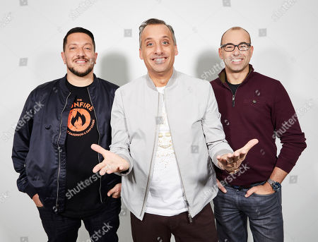 "Sal Vulcano, Joe Gatto, James Murray. The Impractical Jokers, Sal Vulcano, from left, Joe Gatto, and James Murray, pose for a portrait in New York, on. ""The Impractical Jokers: The Movie"" releases in the U.S. on Friday"