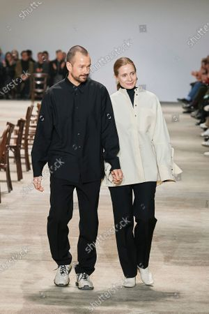 Editorial picture of Jil Sander show, Runway, Fall Winter 2020, Milan Fashion Week, Italy - 19 Feb 2020