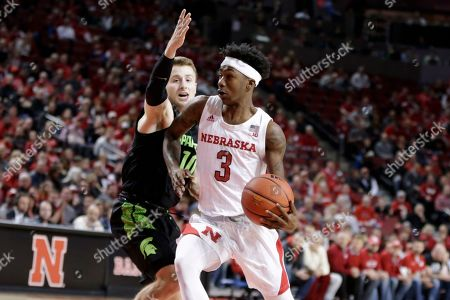 Cam Mack, Jack Hoiberg. Michigan State's Jack Hoiberg (10) defends against Nebraska's Cam Mack (3) during the first half of an NCAA college basketball game in Lincoln, Neb
