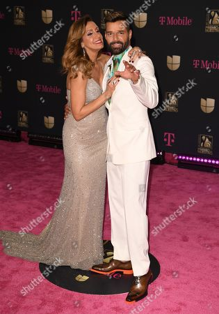 Lili Estefan and Ricky Martin