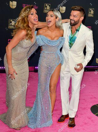 Lili Estefan, Alejandra Espinoza and Ricky Martin