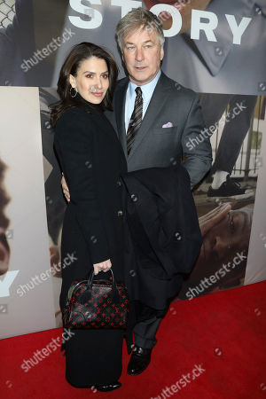 "Hilaria Baldwin, Alec Baldwin. Hilaria Baldwin, left, and Alec Baldwin attend the Broadway opening night of ""West Side Story"" at The Broadway Theatre, in New York"