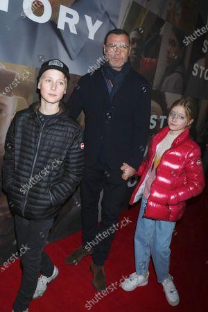 Stock Photo of Liev Schreiber with his kids Alexander Schreiber and Kai Schreiber