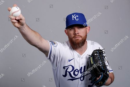 This is a 2020 photo of Ian Kennedy of the Kansas City Royals baseball team. This image reflects the Kansas City Royals active roster as of, when this image was taken