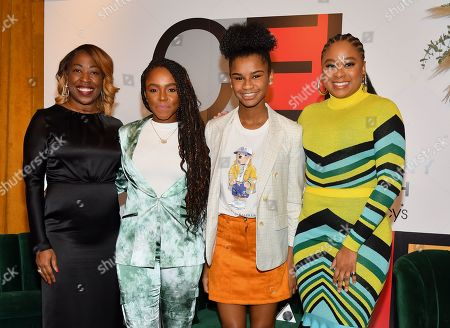 Stock Photo of Shawn Outler, Gia Peppers, Marley Dias and Phoebe Robinson