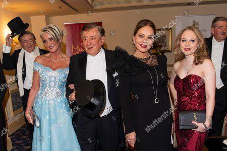Karin Karrer, Richard Lugner, Jacqueline Lugner and Ornella Muti