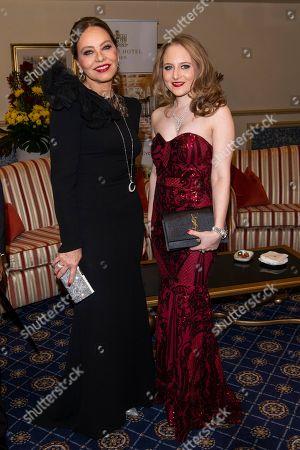 Ornella Muti and Jacqueline Lugner