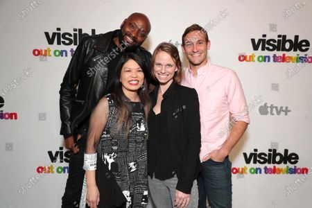 """Patrik-Ian Polk, Pam Ling, Jessica Hargrave, Executive Producer, and Ryan White, Director/Executive Producer, attend Apple's """"Visible: Out on Television"""" screening at The Castro Theatre, San Francisco's Historic Movie Palace. """"Visible: Out on Television"""" is available to watch now on Apple TV+."""