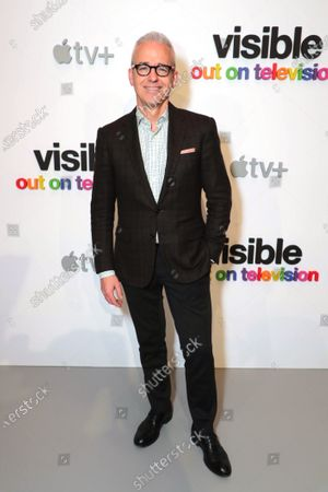 "Stock Image of Jess Cagle, Chief Entertainment Anchor, SiriusXM and Host, The Jess Cagle Show, attends Apple's ""Visible: Out on Television"" screening at The Castro Theatre, San Francisco's Historic Movie Palace. ""Visible: Out on Television"" is available to watch now on Apple TV+."