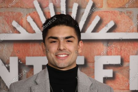 Diego Tinoco arrives at the premiere of the Netflix series Gentefied, at the Plaza de la Raza in Los Angeles, California, USA, 20 February 2020.