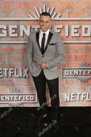 Stock Image of Joseph Julian Soria arrives at the premiere of the Netflix series Gentefied, at the Plaza de la Raza in Los Angeles, California, USA, 20 February 2020.