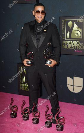 Editorial photo of Premio Lo Nuestro Awards, Press Room, AmericanAirlines Arena, Miami, USA - 20 Feb 2020