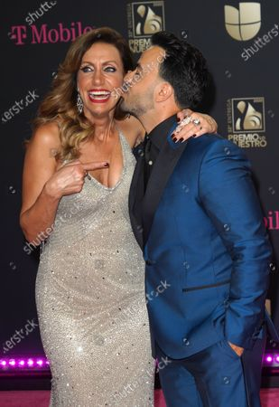 Editorial image of Premio Lo Nuestro Awards, Arrivals, AmericanAirlines Arena, Miami, USA - 20 Feb 2020
