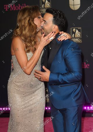 Stock Photo of Lili Estefan and Luis Fonsi