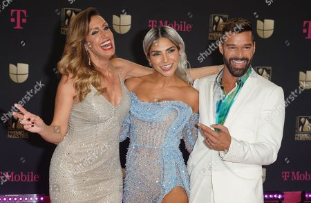 Stock Picture of Lili Estefan, Alejandra Espinoza and Ricky Martin