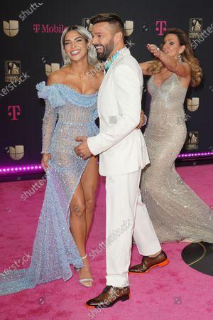 Stock Image of Lili Estefan, Alejandra Espinoza and Ricky Martin