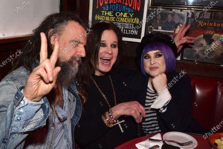 Stock Picture of Rob Zombie, Kelly Osbourne, Ozzy Osbourne