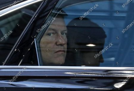 Romania's President Klaus Werner Iohannis arrives for the second day of a Special European Council summit in Brussels, Belgium, 21 February 2020. EU heads of state or government gather for a special meeting to discuss the EU's long-term budget for 2021-2027.