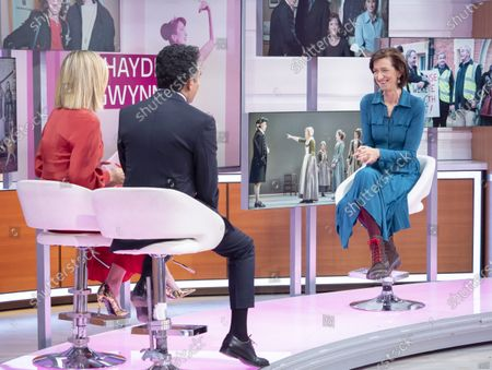 Stock Photo of Adil Ray and Kate Garraway with Haydn Gwynne