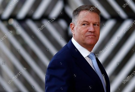 Romania's Prime Minister Klaus Werner Iohannis arrives at the second day of a Special European Council summit in Brussels, Belgium, 21 February 2020. EU heads of state or government gather for a special meeting to discuss the EU's long-term budget for 2021-2027.