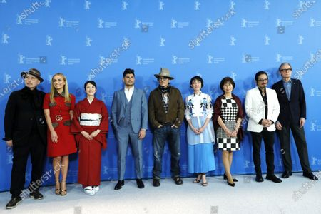 (2L-R) Katherine Jenkins, Akiko Iwase, Andrew Levitas, Johnny Depp, Minami, Aileen Mioko Smith, Hiroyuki Sanada and Bill Nighy pose during the 'Minamata' photocall during the 70th annual Berlin International Film Festival (Berlinale), in Berlin, Germany, 21 February 2020. The movie is presented in the Berlinale Special section at the Berlinale that runs from 20 February to 01 March 2020.