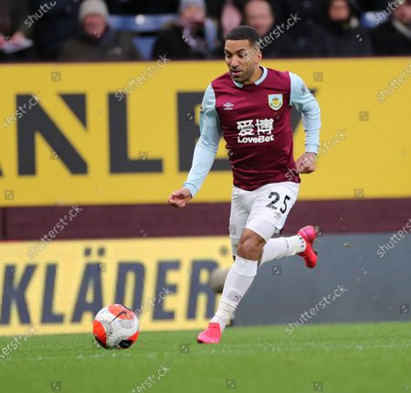 22nd February 2020; Turf Moor, Burnley, Lancashire, England; English Premier League Football, Burnley versus AFC Bournemouth;  Aaron Lennon of Burnley